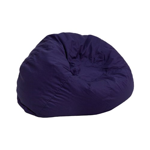 Flash Furniture Small Solid Navy Blue Kids Bean Bag (Navy Bean Bag Chair)