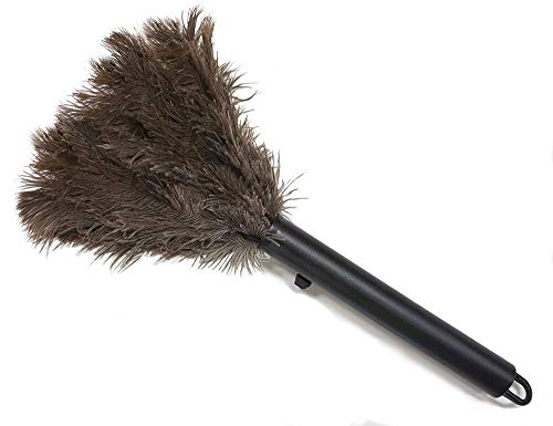 Retractable Feather Duster-Genuine Ostrich Feathers with Metal-Wire Binding