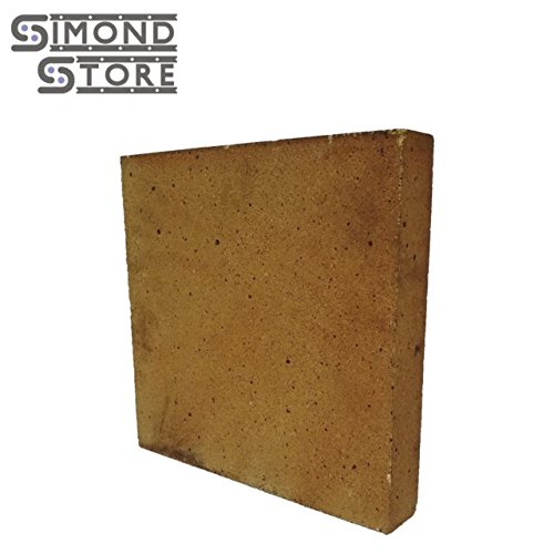 Replacement Firebrick (30% Alumina Refractory Fire Brick Kit 2426°F of 2 Replacements for Stoves, fire pits and Pizza Ovens 12'' x 12'' x 2'')