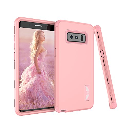 Galaxy Note 8 Case, AOKER [Perfect Desgin] Three Layer Heavy Duty Shockproof High Impact Resistant Hybrid Drop-Protection Best Protective Case Cover for Samsung Galaxy Note 8 (Rosegold)