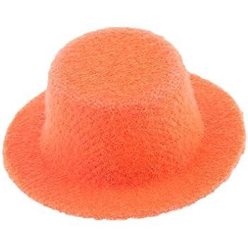 iraintech Orange Clothing Bowler Hat 1 12 Scale Handmade Doll House  Miniature Clothing Décor Accessory 9d9b4888ba6a