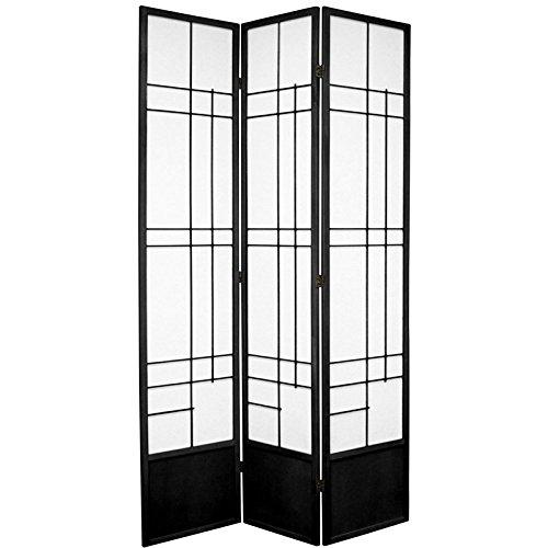 Oriental Furniture 7 ft. Tall Eudes Shoji Screen - Black - 3 (Oriental Com)