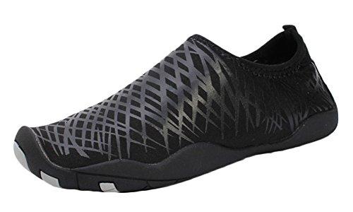 LANBAOSI Mens Water Sports Barefoot Shoes Lightweight Aqua Socks for Swim Yoga Black fWaXkxiF