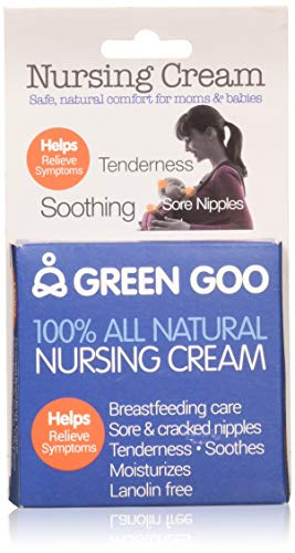 - Green Goo All-Natural Skin Care, Nursing Cream, Large Tin, 1.82 Ounce