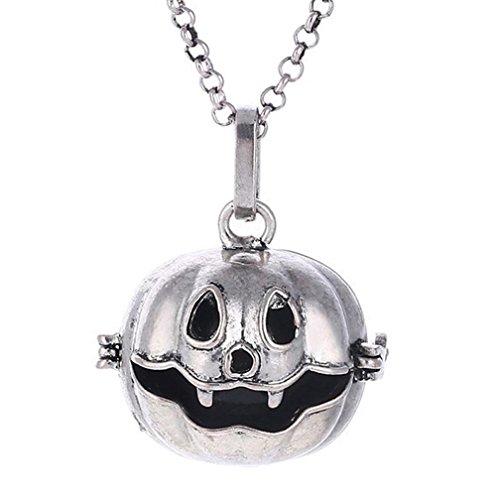 Necklace, Hometom Halloween Pumpkin Perfume Essential Oil Diffuser Long Sweater Chain Necklace (Halloween Parfum)