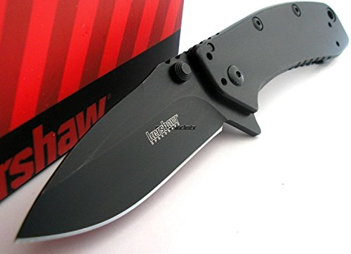 Kershaw LARGE Cryo II Hinderer BLACK Blade Folder Assisted Opening Knife 1556BLK
