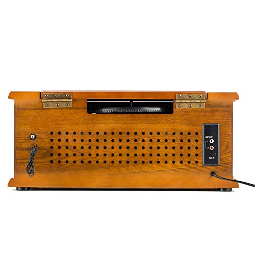 Shuman Nostalgic Wooden 7 In 1 Bluetooth Music Centre With Retro 3