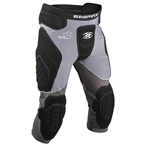 - Empire Paintball Neoskin Slide Short W/Knee Pads - Black/Grey (Youth)