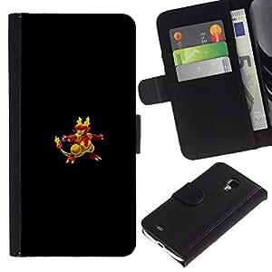 """A-type (Flaming empuje Pato"""") Colorida Impresión Funda Cuero Monedero Caja Bolsa Cubierta Caja Piel Card Slots Para Samsung Galaxy S4 Mini i9190 (NOT S4)"""