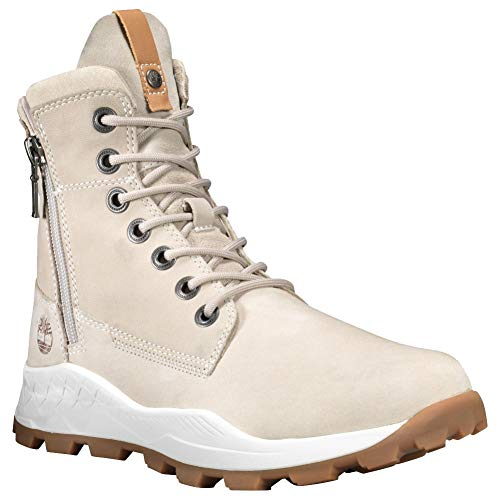 (Timberland Mens Brooklyn Side Zip Boot, Light Taupe Nubuck, Size 10.5)