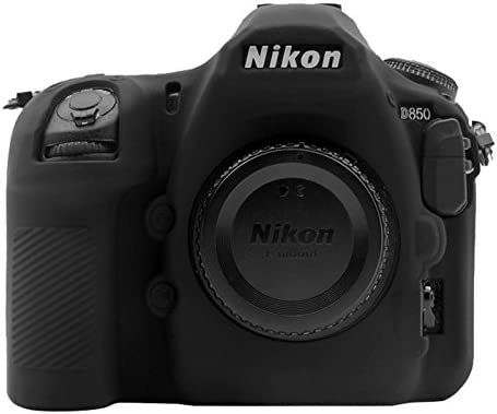 Soft Silicone Protective Case for Nikon D850 Durable Color : Black