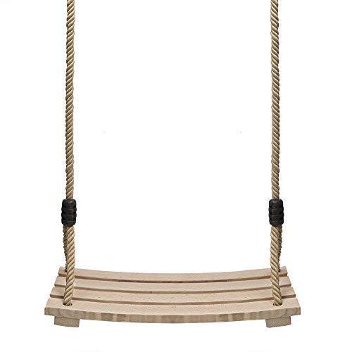 (Pellor Indoor Outdoor Wood Tree Swing Seat Chair Child Adult Kid 17.7x7.9x0.6 inch)