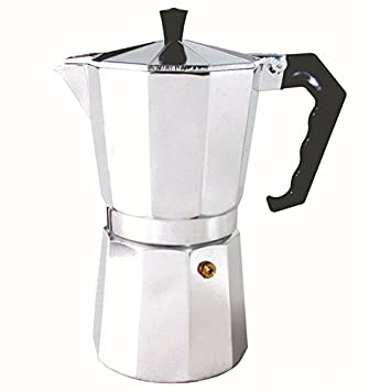 TOOGOO 450 Ml Hogar De Aluminio Latte Mocha Cafetera Estufa Cafetera Express Máquina Fácil De Limpiar para El Ministerio De La Oficina en Casa Café: ...