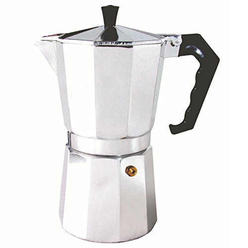Aluminum talian Stovetop Espresso Coffee Maker - For Bold, Full Body Espresso – Easy to Use – Makes2/4/6/9/12cup Traditional Demitasse Cups (100ml(2cup))