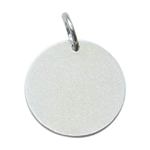 Monrocco 925 Sterling Silver Flat Round Shape Stamping Blanks for Necklace