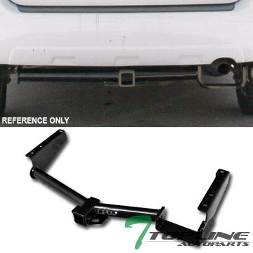 Topline Autopart Class 3 III Black 2 Rear Bumper Trailer Tow Hitch Towing Mount Receiver Tube For 04-07 Toyota Highlander ; 04-09 Lexus RX330 RX400h RX350
