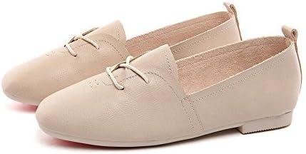 HAIZHEN Ladies Girls Botines Zapatos de mujer Heel Pointed Toe Flats Al aire libre/Oficina y Carrera/Casual Negro/Amarillo/Beige Para 18-40 años de edad