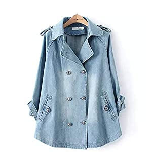 Women's Oversized  Jeans Jacket Vintage   Denim Jacket   Dress Coat