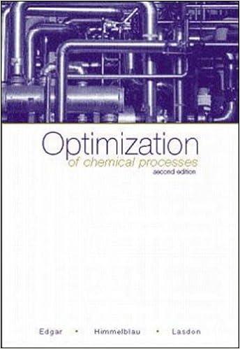 Optimization Of Chemical Processes Edgar Pdf