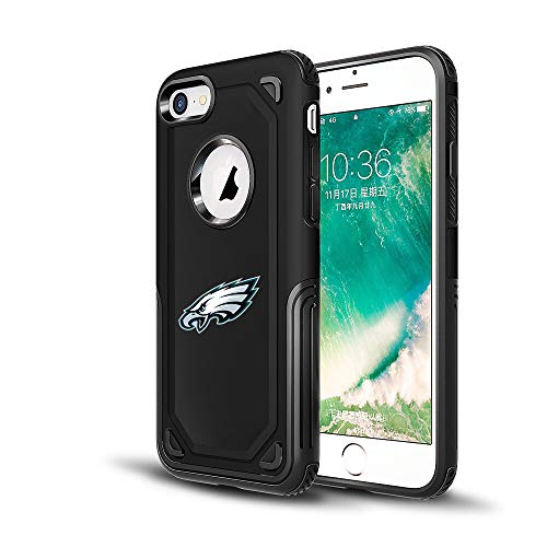 (Eagles iPhone 6s Tough Electroplate Case, 3 in 1 Ultra-thin Smooth Anti-Scratch PC Hard Back Case Full Cover for iPhone 6 / 6s - Black)