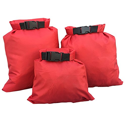 3pcs Nylon Waterproof Dry Bag Camping Equipment Green - 2