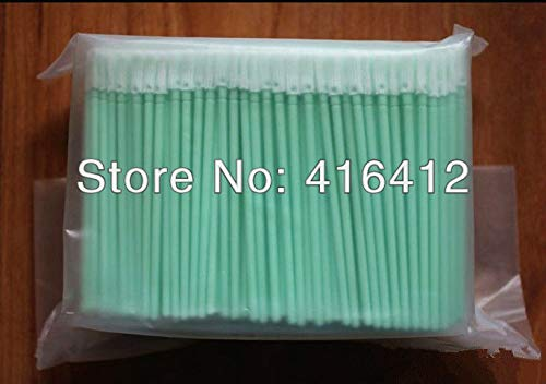 Printer Parts 500 pcs Cleanroom Polyester tip Small Swabs - Alternative to ITW Texwipe TX758B Micro Alpha Polyester - Polyester Swab Alpha Clean Tips