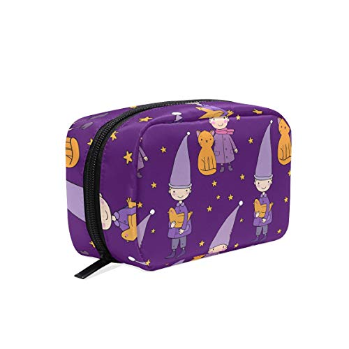Makeup Bag Starry Night Sleeping Pattern Cosmetic Pouch Clutch