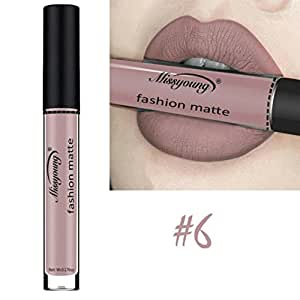 Women Cosmetics Matte Lip Gloss & Metallic Lip brillant Moisturizing Long-lasting Luster Lipstick (Miss young 06)