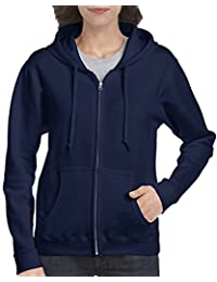 Gildan Womens Standard Full Zip Hooded Sweatshirt