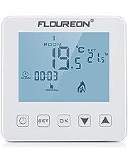 Raumthermostat Thermostat 16A Programmierbar Wandthermostat LCD Display mit Weiß Backlight Digital Smart Programmierbares Heizkörper-Thermostat für elektrische Fußbodenheizung Wandheizung Heizung