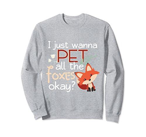 Unisex Cute Fox Lovers Gift Sweatshirt Boys Girls Teens Christmas Medium Heather - Sweatshirt Fox Kids