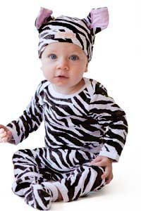 Animal Print 4pc Baby Costume Outfit (18-24 months, Zebra)