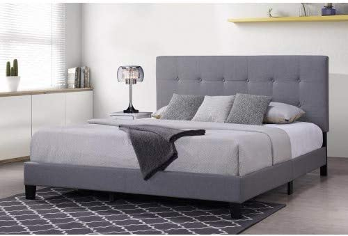 Lentia - Plataforma tapizada para somier, base de colchón con ...