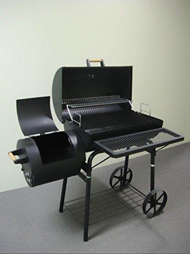 32kg - PROFI XXL Smoker BBQ GRILLWAGEN Holzkohle Grill Grillkamin ca. 1,5 mm Stahl PROFI-QUALITÄT OGA032