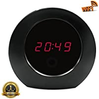 U-Sepro WiFi Hidden Camera Wireless Alarm Clock Full HD 1080P Motion Detection Activated Nanny Spy Security Cam Video Remotely Monitoring for Home Surveillance (Free 8G Micro SD Card)