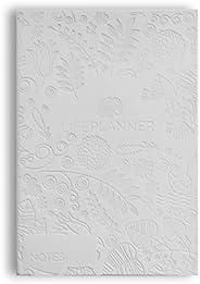 LIFE PLANNER Agenda Notes Color Blanco Portada Nature: Hojas en Blanco - Fecha en Blanco - Papel Grueso - 15 x