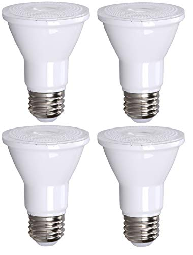 (PAR20 LED Bulb 75W Replacement, Bioluz LED Spot Light Bulb, 3000K Soft White, E26, 40 Degree Beam Angle, UL Listed, 4 Pack)