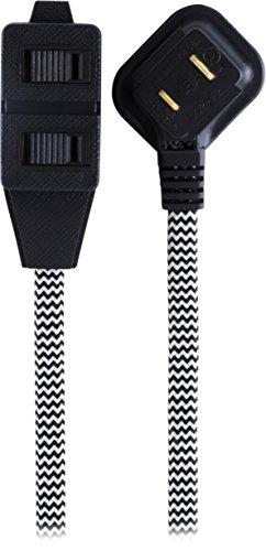 extension cord black low profile - 2