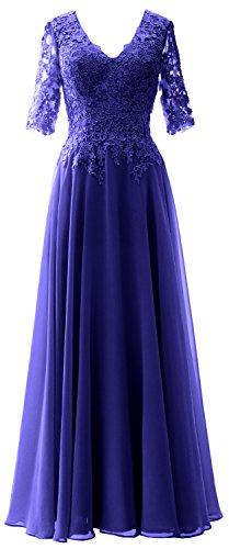 Royal Donna A Maniche MaclothVestito Blue Ad Senza Linea shCtrdQ