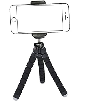 iPhone Tripod,by Ailun,Tripod Mount/Stand,Phone Holder,Compact for iPhone 7/7 Plus,6/6s,6/6s Plus,SE/5s/5/5c,Samsung Galaxy S8/S7/S7 Edge,S6/S6Edge,Note 5/4/3,Camera&Smartphone[Black]