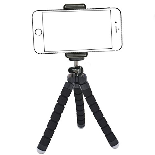 Ailun Phone Tripod,Tripod Mount/Stand,Phone Holder,Compatible iPhone X/Xs/XR/Xs Max/8/7/7 Plus,6s,6s Plus,SE/5c,Galaxy S9+/S8/S7/S7 Edge,S6/S6Edge,Camera and More[Black]