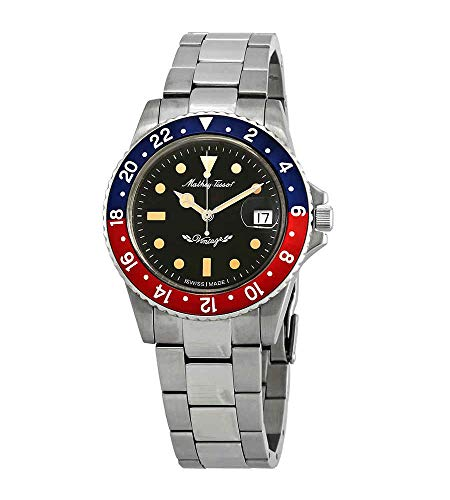 Mathey-Tissot Rolly Vintage Automatic Blue and Red Bezel Mens Watch H900ATR