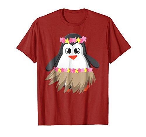 Penguin With Luau Costume Shirt | Cool Hula Penguin (Male Hawaiian Dancer Costumes)