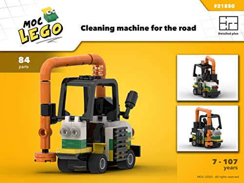 Cleaning road machine (Instruction only): MOC LEGO por Bryan Paquette
