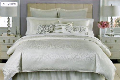 amazoncom martha stewart shimmer california king bedskirt home kitchen - Martha Stewart Bedding