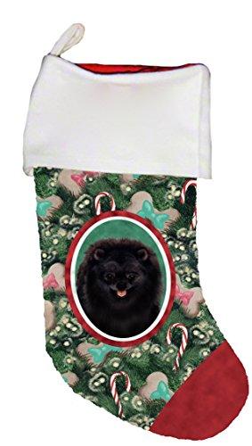 Best of Breed Pomeranian Black Dog Breed Christmas Stocking