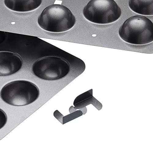Gris Acier au Carbone Kitchen Craft KCMCHB91 Moule /à Cake Pop 28 x 28 x 18 cm