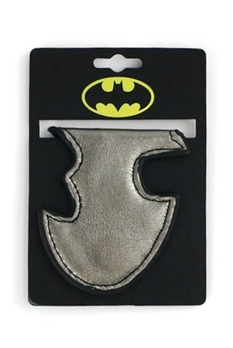 DC Comics Batman Silver Leather Money Clip (Folding Money Clip)