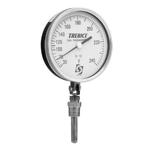 Trerice V80445050B31 Remote Mounted Dial Thermometer