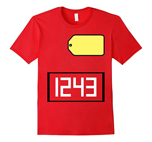 Price Is Right Big Wheel Costume (Mens Game Show Group Halloween Costume T-Shirt XL Red)